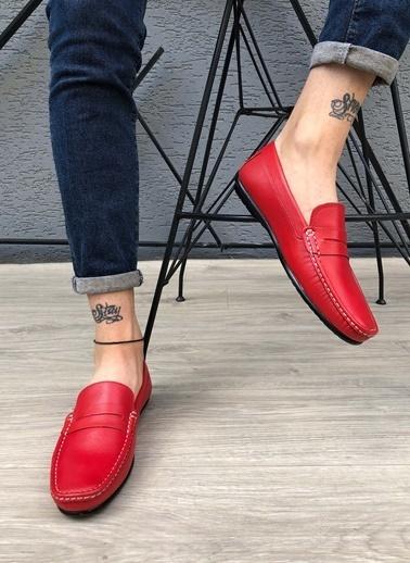 MARTINETTO Hakiki Deri Loafer Kırmızı
